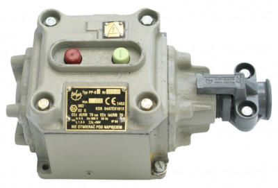 Ognioszczelny przycisk sterowniczy typu PP-64 odmiana 1 (500V, 6A)