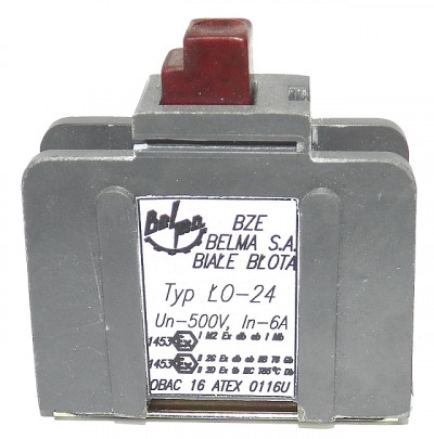 Łącznik ognioszczelny typu ŁO-12,22,24 (500V, 6A)