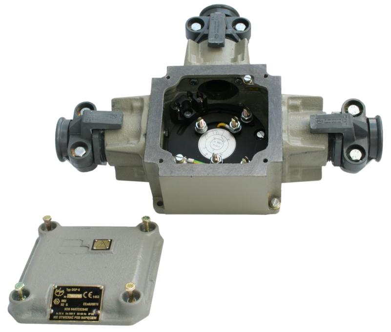 Ognioszczelna skrzynka połączeniowa typu OSP-6 odmiana 1 (500V, 32A)