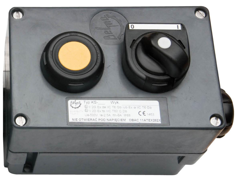 Przeciwwybuchowa kaseta sterownicza typu KS-2 (500V, 2,5A)
