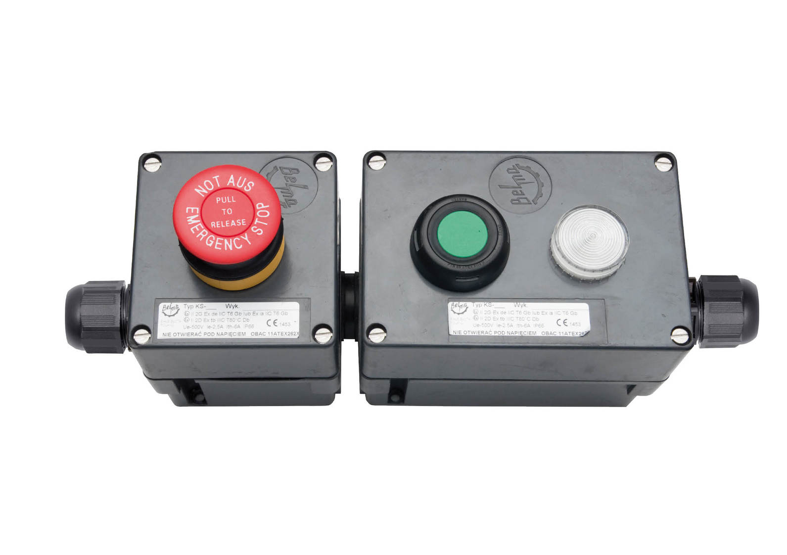 Przeciwwybuchowe zestawy kaset sterowniczych typu KS-3 (500V, 25,5A)