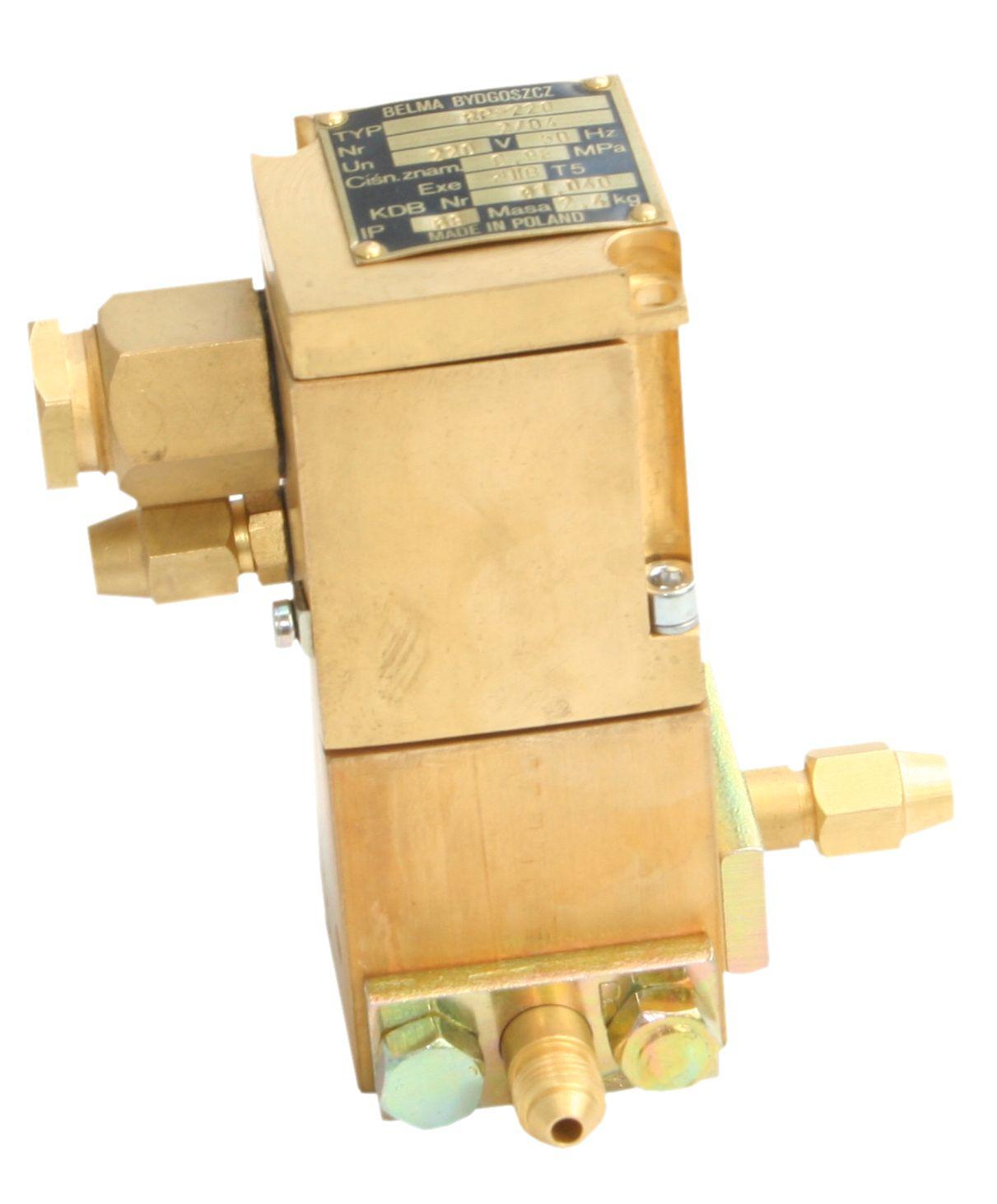 Rozdzielacz elektropneumatyczny przeciwwybuchowy typu R-24 i R-220 (24V DC, 230V AC)