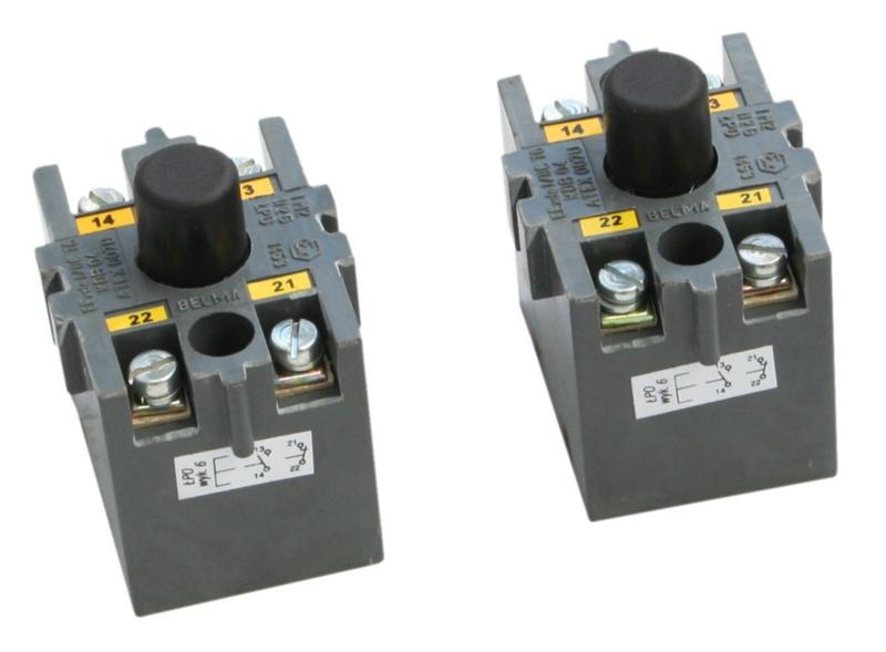 Łącznik przyciskowy ognioszczelny typu ŁPO (do 500V, 6A)